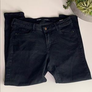 Old Navy rockstar mid rise black jeans Sz 16